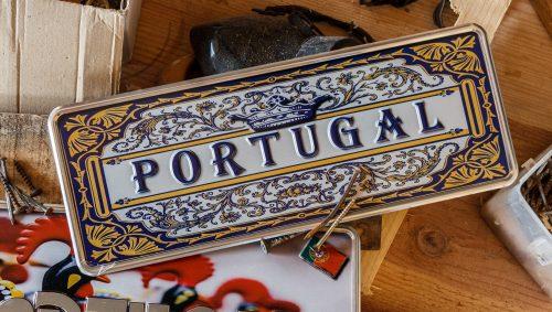 Placa Aluminio Portugal Premium Azulejo do Portugal - Ocean Plates Placas em Aluminio