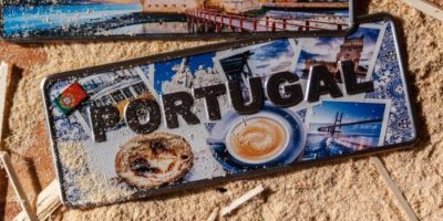 Placa Aluminio Portugal Premium Elementos Tipicos de Lisboa - Ocean Plates Placas em Aluminio