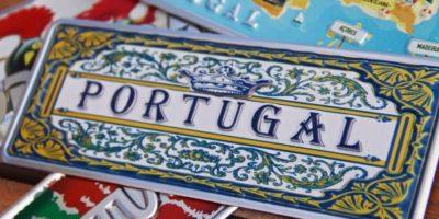 Placa Aluminio Portugal Mini Azulejo Português - Ocean Plates Placas em Aluminio
