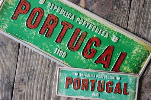 Placa Aluminio Portugal Premium 1139 Nascimiento do Portugal - Ocean Plates Placas em Aluminio