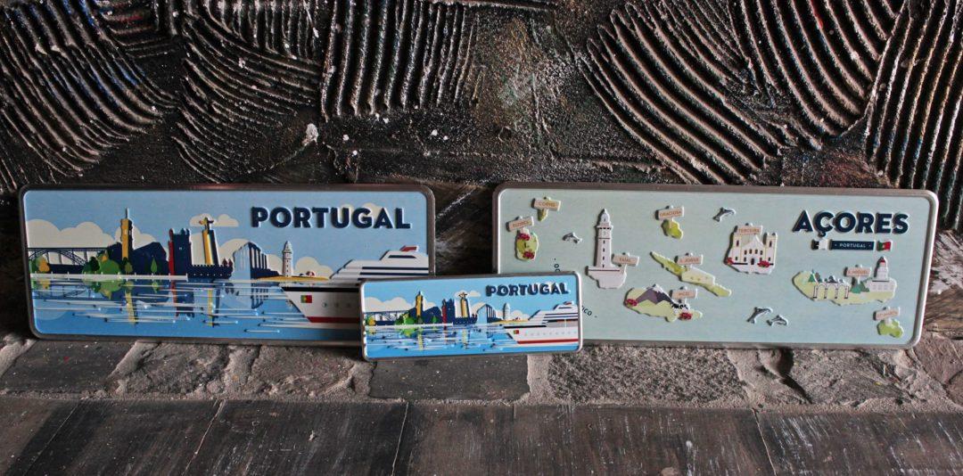 Placa Aluminio Portugal Mini Cruzeiro Cidade de Portugal - Ocean Plates Placas em Aluminio