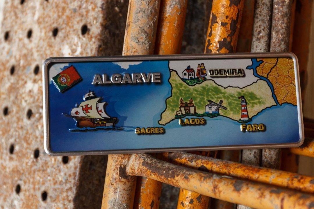Placa Aluminio Portugal Premium Mapa de Algarve - Ocean Plates Placas em Aluminio