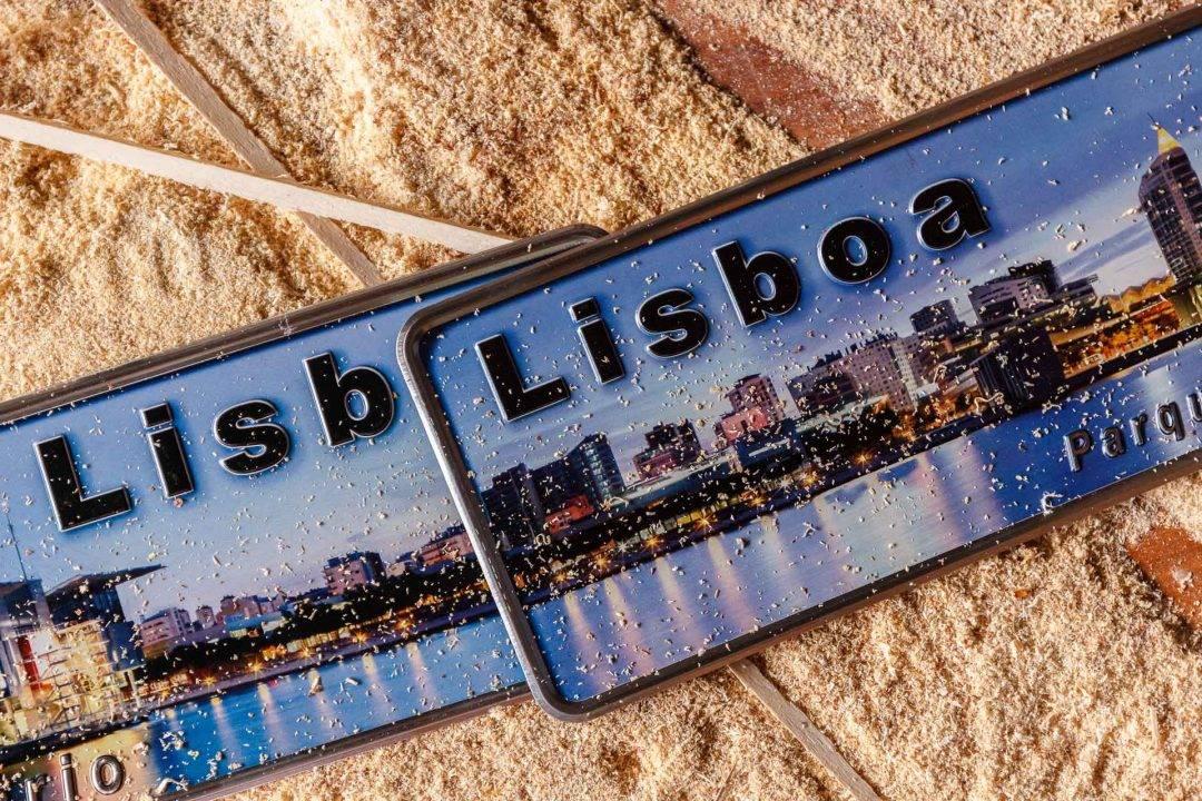 Placa Aluminio Portugal Premium Parque das Naçoes de Lisboa - Ocean Plates Placas em Aluminio