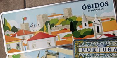 Placa Aluminio Portugal Premium La Vila de Óbidos - Ocean Plates Placas em Aluminio