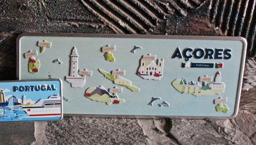 Placa Aluminio Portugal Premium Açores Arquipélago - Ocean Plates Placas em Aluminio