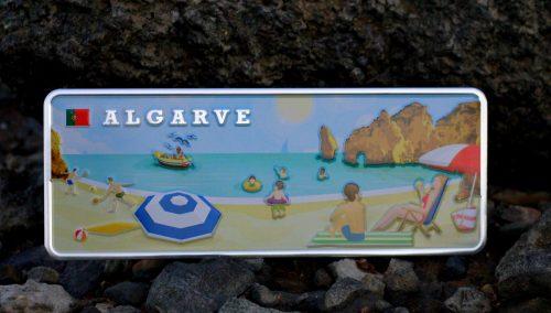 Placa Aluminio Portugal Premium Algarve Vintage - Ocean Plates Placas em Aluminio