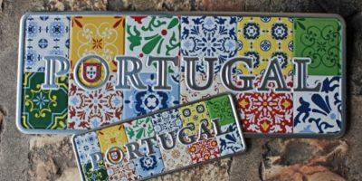 Placa Aluminio Portugal Premium Painel Azulejo Português - Ocean Plates Placas em Aluminio