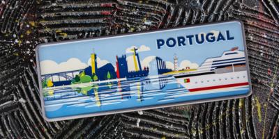 Placa Aluminio Portugal Premium Porto de Cruzeiro - Ocean Plates Placas em Aluminio