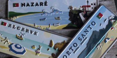 Placa Aluminio Portugal Premium Cidade Piscatória de Nazarè - Ocean Plates Placas em Aluminio
