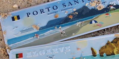 Placa Aluminio Portugal Premium Ilha de Porto Santo - Ocean Plates Placas em Aluminio