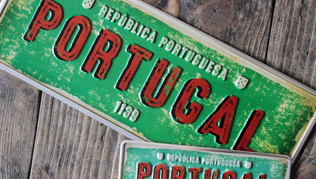 Placa Aluminio Portugal Mini Republica Portuguesa 1139 - Ocean Plates Placas em Aluminio