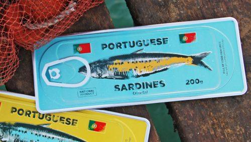 Placa Aluminio Portugal Premium Sardinha Azul - Ocean Plates Placas em Aluminio