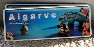 Placa Aluminio Portugal Premium Costa de Algarve - Ocean Plates Placas em Aluminio