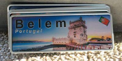 Placa Aluminio Portugal Premium La Torre de Belém - Ocean Plates Placas em Aluminio