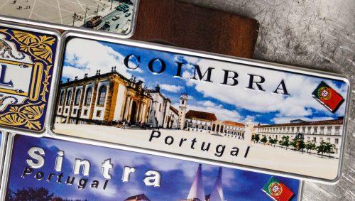 Placa Aluminio Portugal Premium La Universidade de Coimbra - Ocean Plates Placas em Aluminio