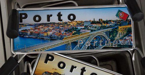 Placa Aluminio Portugal Premium Porto e Ponte Dom Luís I - Ocean Plates Placas em Aluminio