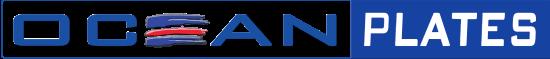 Ocean Plates Placas em Aluminio Logo