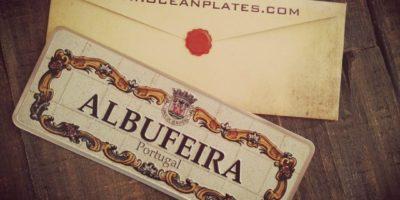 Placa Aluminio Portugal Premium Envelope - Ocean Plates Placas em Aluminio