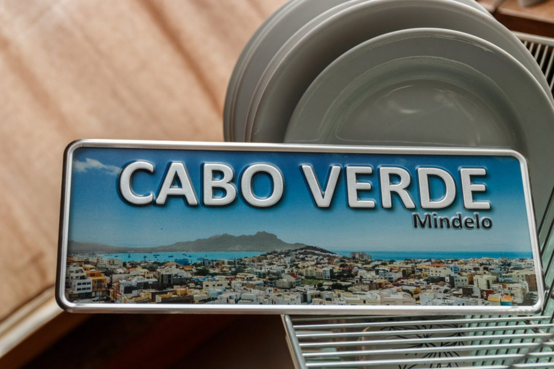 Placa Aluminio Cabo Verde Premium Mindelo de Cabo Verde - Ocean Plates Placas em Aluminio