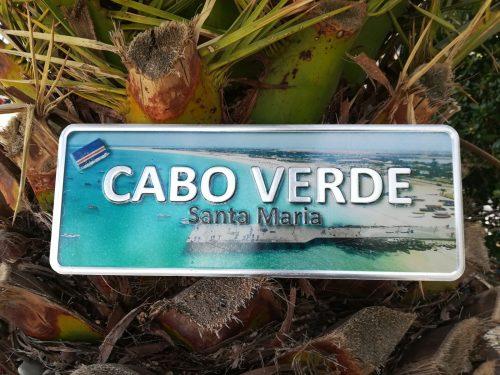 Placa Aluminio Cabo Verde Premium Pontão de Santa Maria - Ocean Plates Placas em Aluminio