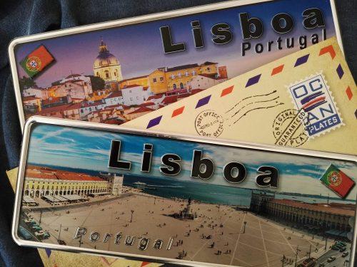 Placa Aluminio Portugal Premium Praça do Comércio de Lisboa - Ocean Plates Placas em Aluminio