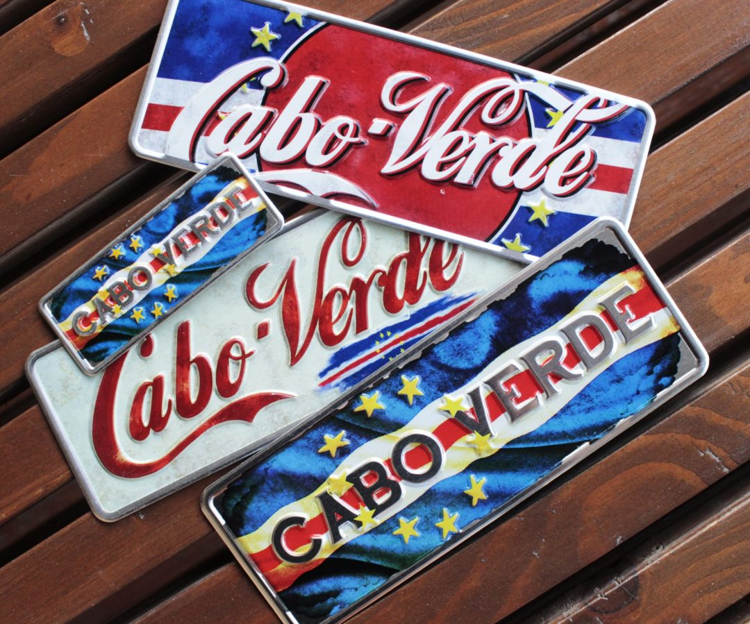 Placa Aluminio Cabo Verde Premium Cabo Verde Vintage - Ocean Plates Placas em Aluminio