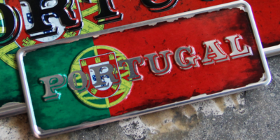 Aluminum Plate Portugal Mini National Flag with Emblem of Portugal - Ocean Plates Aluminum Plates
