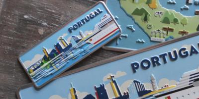 Aluminum Plate Portugal Mini Cruzeiro City of Portugal - Ocean Plates Aluminum Plates