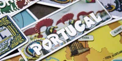 Placa Aluminio Portugal Mini Galos de Barcelos - Ocean Plates Placas em Aluminio