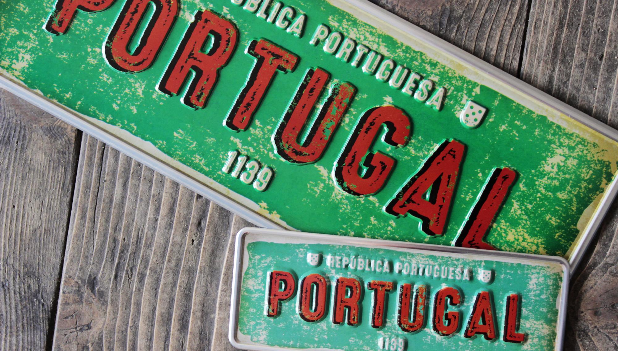Aluminum Plate Portugal Mini Portuguese Republic 1139 - Ocean Plates Aluminum Plates