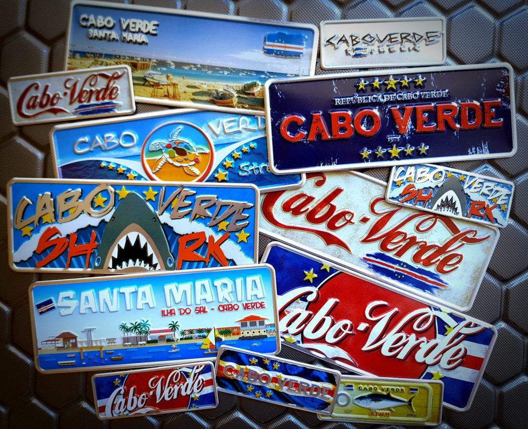 Placa Aluminio Cabo Verde Premium República de Cabo Verde - Ocean Plates Placas em Aluminio