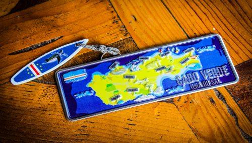 Placa Aluminio Cabo Verde Mini Ilha do Sal Mapa - Ocean Plates Placas em Aluminio