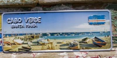 Placa Aluminio Cabo Verde Mini Cabo Verde Santa Maria - Ocean Plates Placas em Aluminio