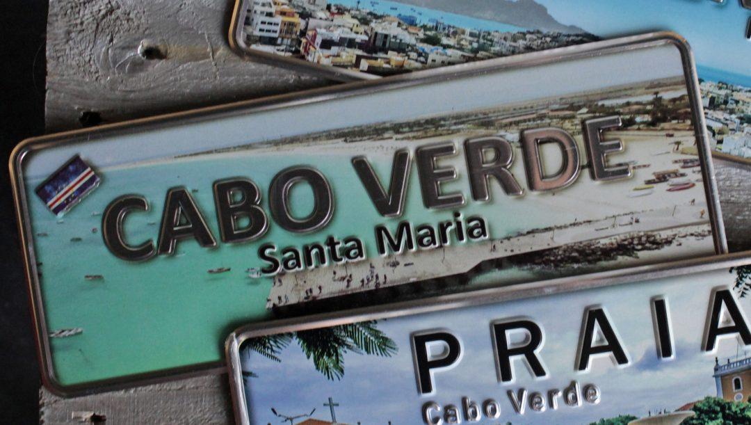 Placa Aluminio Cabo Verde Premium Ilha do Santiago - Ocean Plates Placas em Aluminio