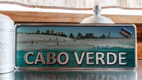Placa Aluminio Cabo Verde Premium Santa Maria Ponta Preta - Ocean Plates Placas em Aluminio