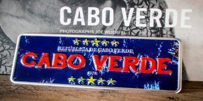 Placa Aluminio Cabo Verde Mini Rèpublica de Cabo Verde Azul - Ocean Plates Placas em Aluminio