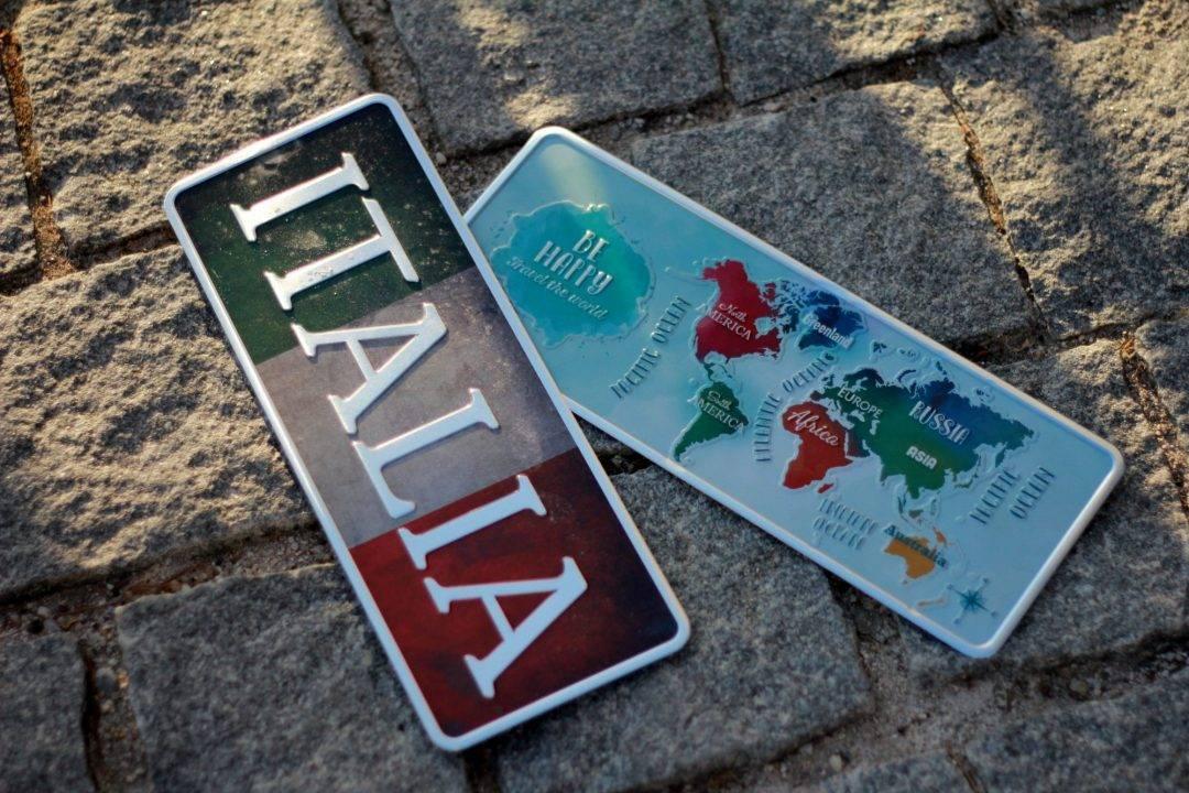 Placa Aluminio Gift Mapa Mundo Azul - Ocean Plates Placas em Aluminio