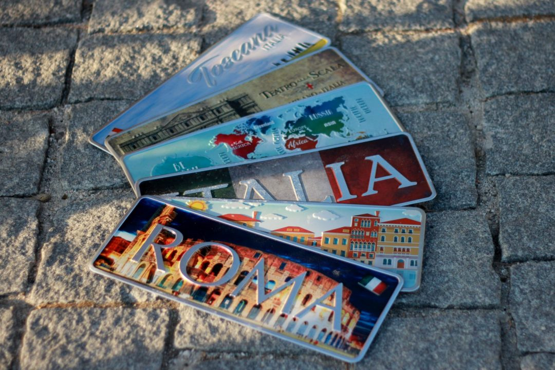 Placa Aluminio Itàlia Premium Roma e Seu Coliseu - Ocean Plates Placas em Aluminio