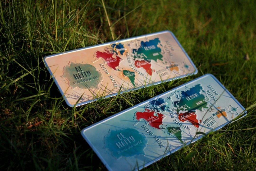 Placa Aluminio Gift Mapa Mundo Amarelo - Ocean Plates Placas em Aluminio