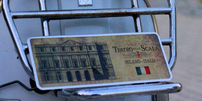Placa Aluminio Itàlia Premium Teatro La Scala de Milão - Ocean Plates Placas em Aluminio