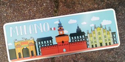 Placa Aluminio Itàlia Milão e Seus Monumentos - Ocean Plates