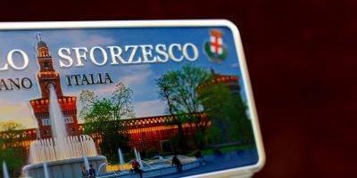 Placa Aluminio Itàlia Premium Castelo Sforzesco de Milão - Ocean Plates Placas em Aluminio