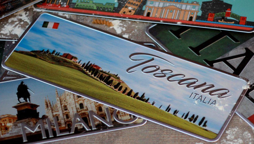 Placa Aluminio Itàlia Premium Toscana e Suas Colinas - Ocean Plates