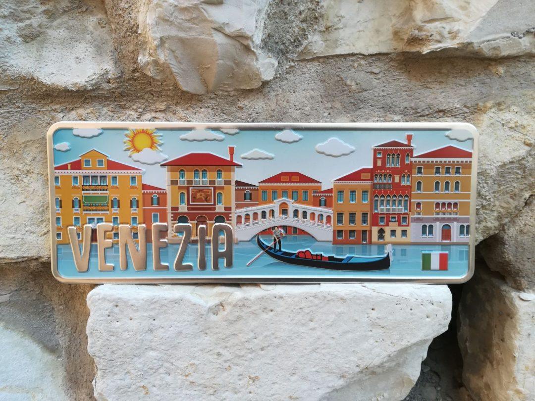 Placa Aluminio Itàlia Premium Veneza e Sous Monumentos - Ocean Plates