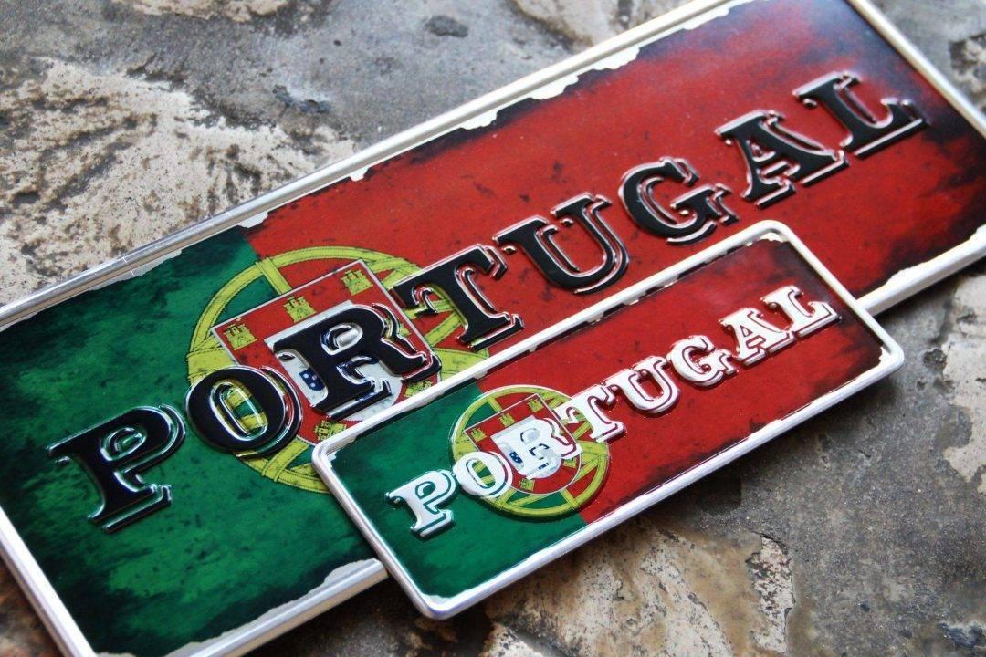 Placa Aluminio Portugal Bandeira Nacional de Portugal - Ocean Plates