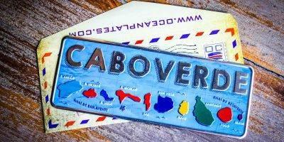 Placa Aluminio Cabo Verde Arquipelago Cabo Verde - Ocean Plates