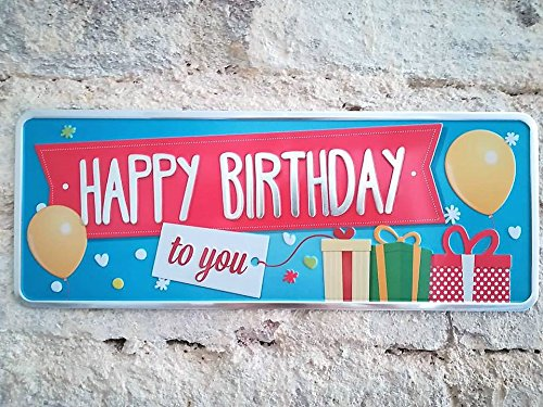 Placa Aluminio Gift Happy Birthday - Ocean Plates